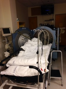 Writing prompt, hyperbaric therapy, unexpected turn