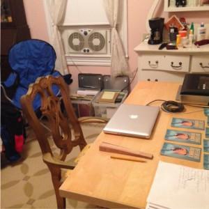 My room at Nimrod Hall Writers' Workshop