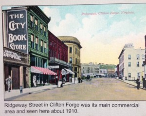 Clifton Forge, Virginia, 1910 view of Ridegway Street