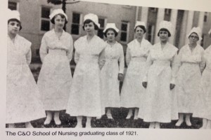 Nursing students graduating from C&O Hospital Nursing Program, 1921