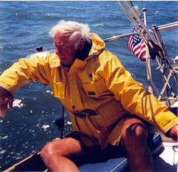 W. Lawrence Gulick at the helm