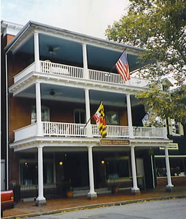 The Chestertown hotel where Mark Sasser claimed to be having dinner with his wife the night of the murder.