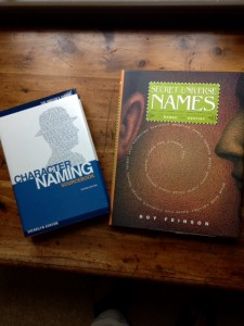 book covers of Character Naming by Sherrilyn Kenyon and The Secret Universe of Name by Roy Feinson