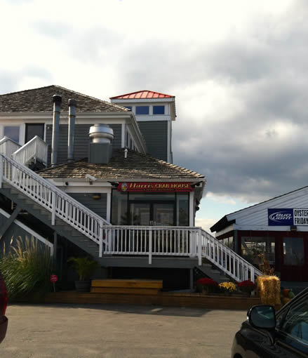 Harris Crab House, where Nora and Van had lunch and reconnected.