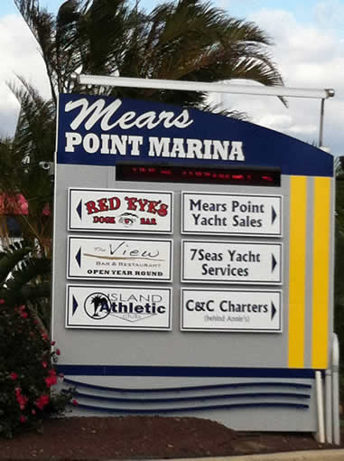 Mears Point Marina, where Duet was repaired.