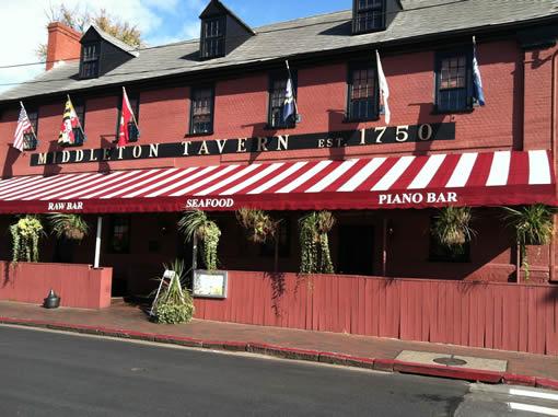 Middleton Tavern where Buck had dinner.