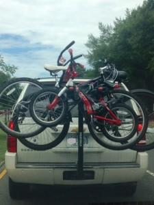 bike rack on car