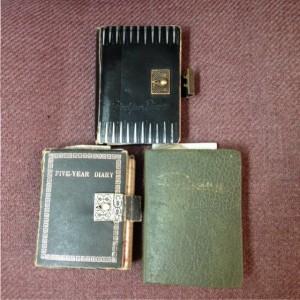 three old diaries