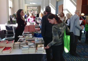 Fountain Bookstore selling speakers' books at James River Writers Conference