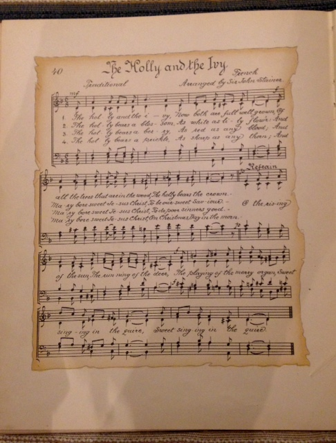 "sheet music of Christmas carol ""Holly and the Ivy"""