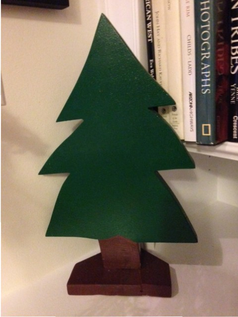 wooden cutout christmas tree