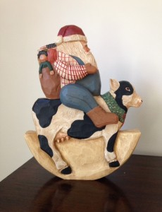 Creativity expressed in James Haddon's Santa riding a cow
