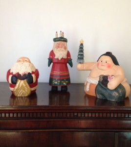 Creativity expressed in three Santas by James Haddon