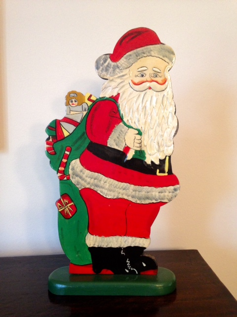 santa claus wooden cutout