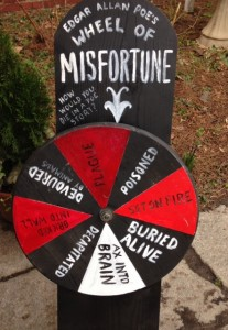 wheel of misfortune at Poe's Birthday Bash