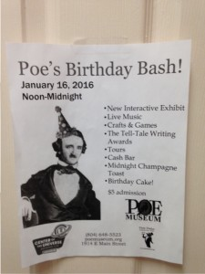 Poe's Birthday Bash! flyer