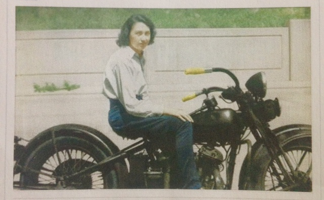 woman on motorcycle, 20th century