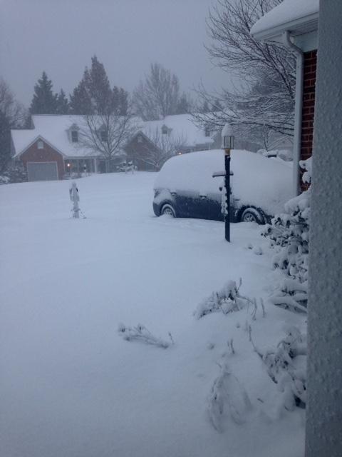 winter weather in Richmond, Virginia, January 2016