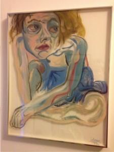 body image: self-portrait in blue
