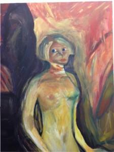 body image: self-portrait in bright colors