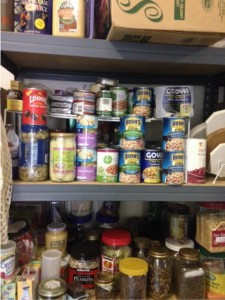 canned food on shelf, February is Canned Food Month