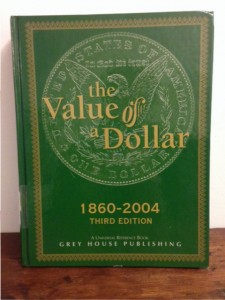 research book: The Value of a Dollar