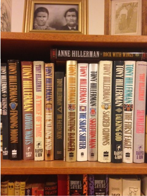 books by Tony Hillerman on shelf, bookworm delights, top ten Tuesday