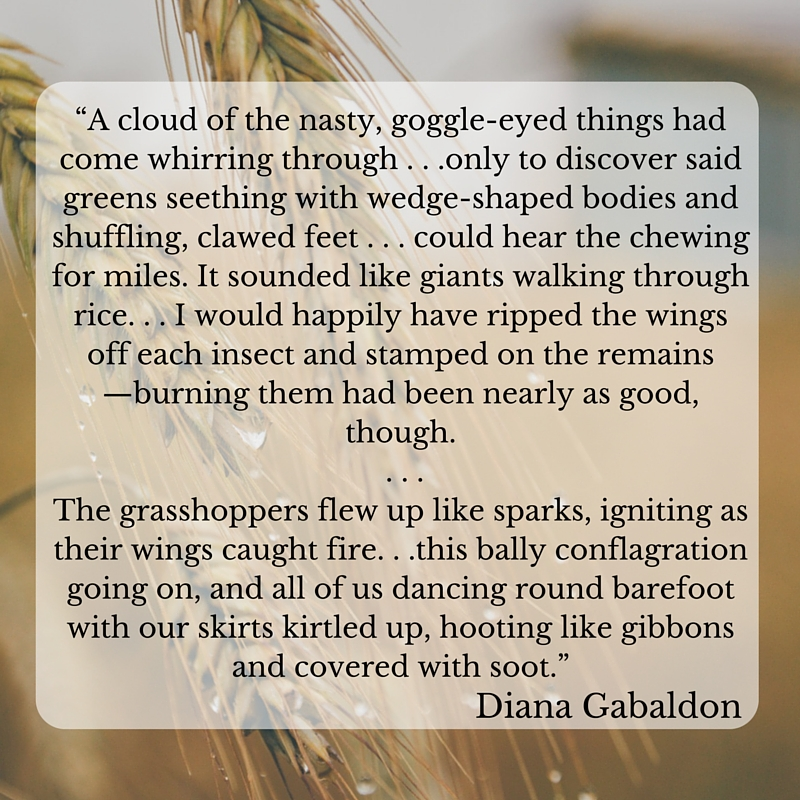 Diana Gabaldon quote, flew up like sparks