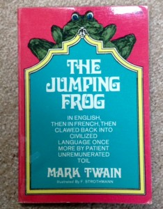 The Jumping Frog, Mark Twain, writing humor, funny writing