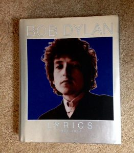 Bob Dylan lyrics, book, whim