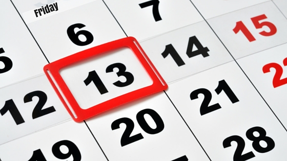 Friday the 13th, superstition, calendar, 13