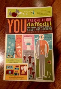 You are One-Third Daffodil and Other Facts to Amaze, Tom Nuttall, book, trivia, writing inspiration