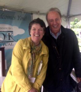 authors Alice McDermott and Roger Rosenblatt at Gaithersburg Book Festival
