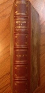 used book purchased at Gaithersburg Book Festival, brown leather, Dictionary of Americanisms