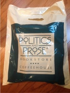 shopping bag from Politics and Prose bookstore