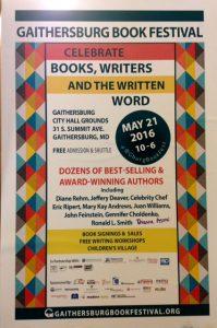 Gaithersburg Book Festival poster