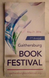 Gaithersburg Book Festival program, May 21, 2016