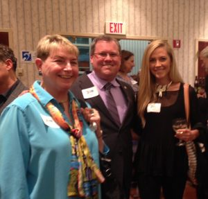 Vivian Lawry, Jud Ashman, M.Tara Crowl at Gaithersburg Book Festival VIP party