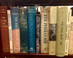 Mary Renault books, book shelf, Top Ten Tuesday picks