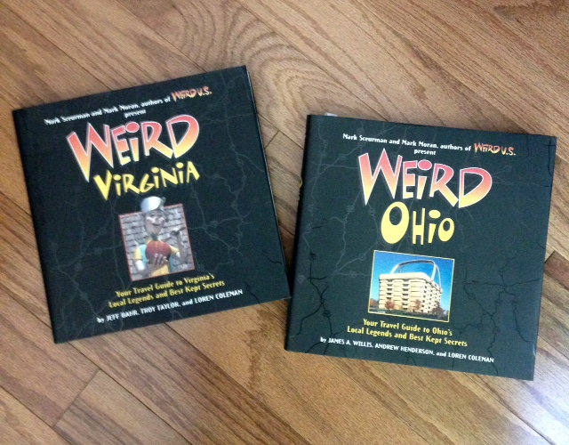 trivia books, Weird Ohio, Weird Virginia
