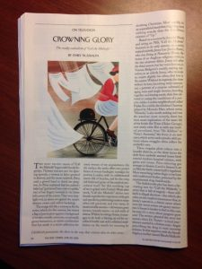 "page of The New Yorker, ""Crowning Glory: The sneaky radicalism of Call the Midwife"" by Emily Nussbaum"