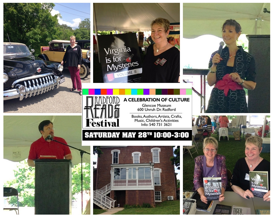 Collage of images from Radford Reads Festival