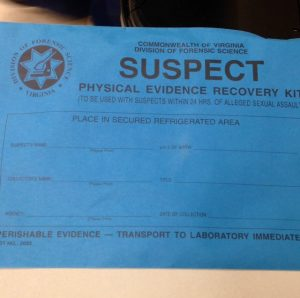 "forensic nurse form, ""Suspect Physical Evidence Recovery Kit,"" Commonwealth of Virginia"