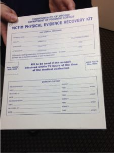 "Forensic nursing form, ""Victim Physical Evidence Recovery Kit"""