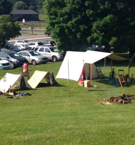 Civil War camp reenactment at Radford Reads Festival