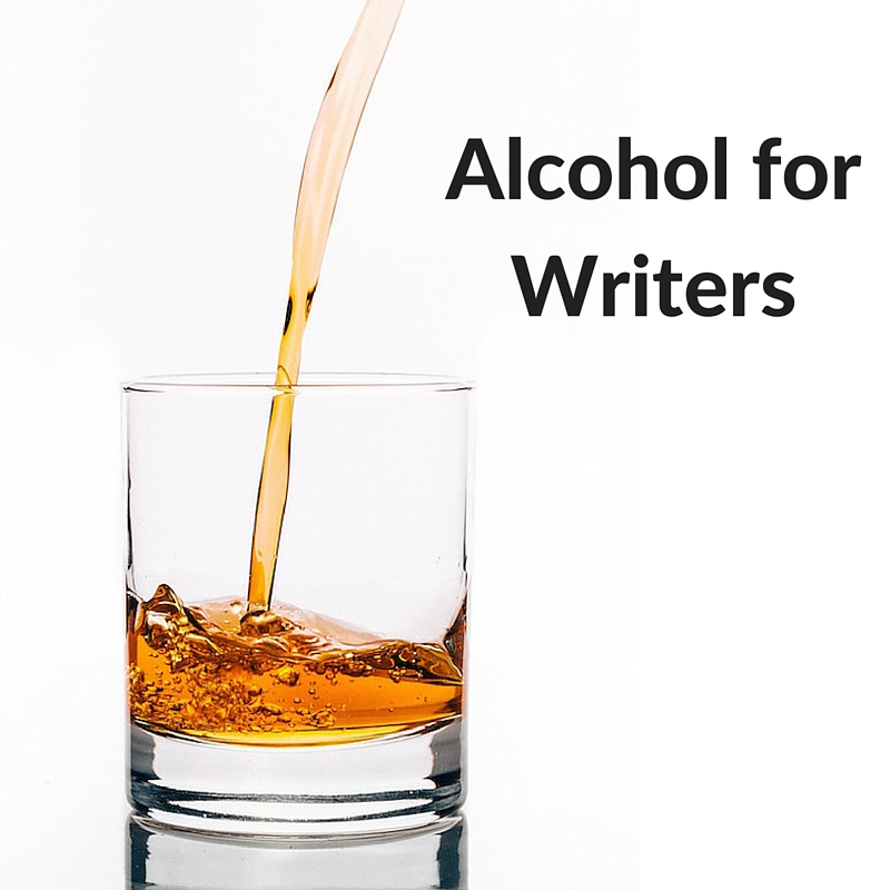 """alcohol for writers"" whisky poured into tumbler"