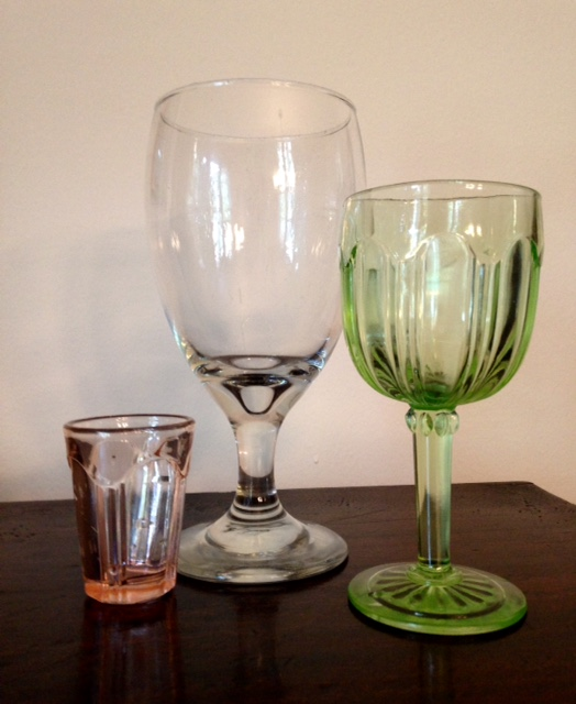 shot glass, beer glass, wine glass