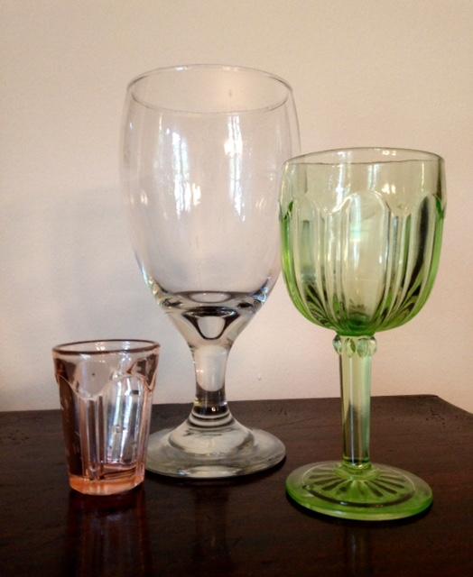 shot glass, beer glass, wine glass
