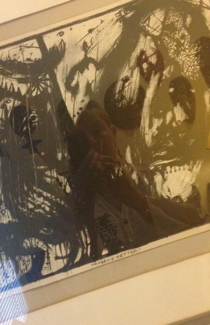 abstract painting, dark, paranoia