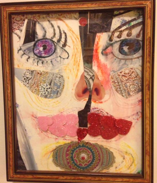 painting, surreal head, paranoia